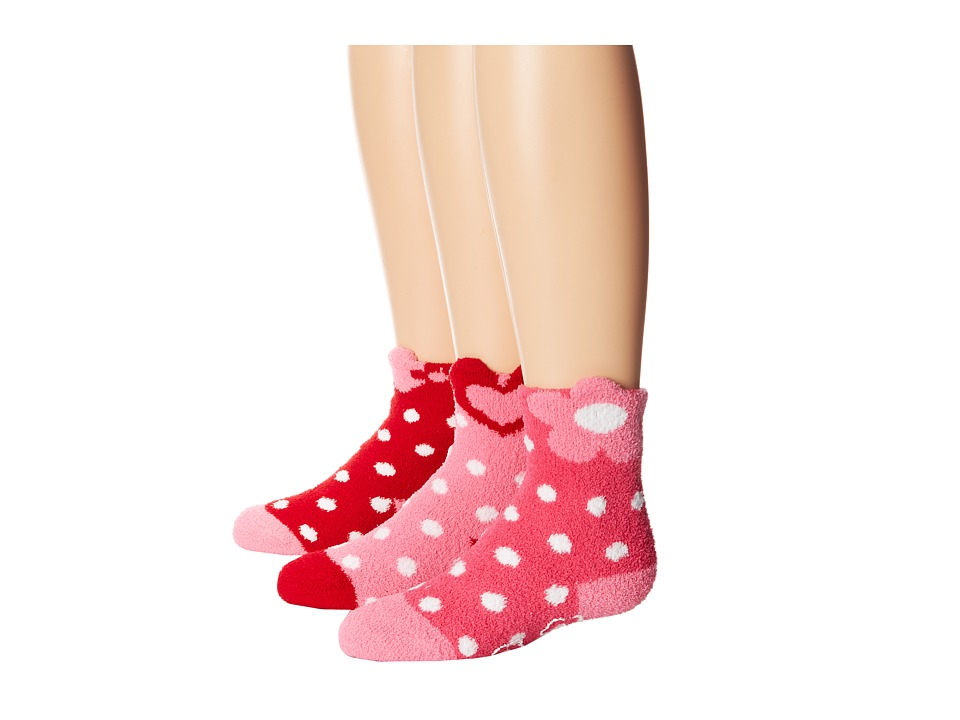 Jefferies Socks - Slipper Socks 3 Pack (Infant/Toddler/Little Kid/Big Kid) (Pink/Red) Girls Shoes