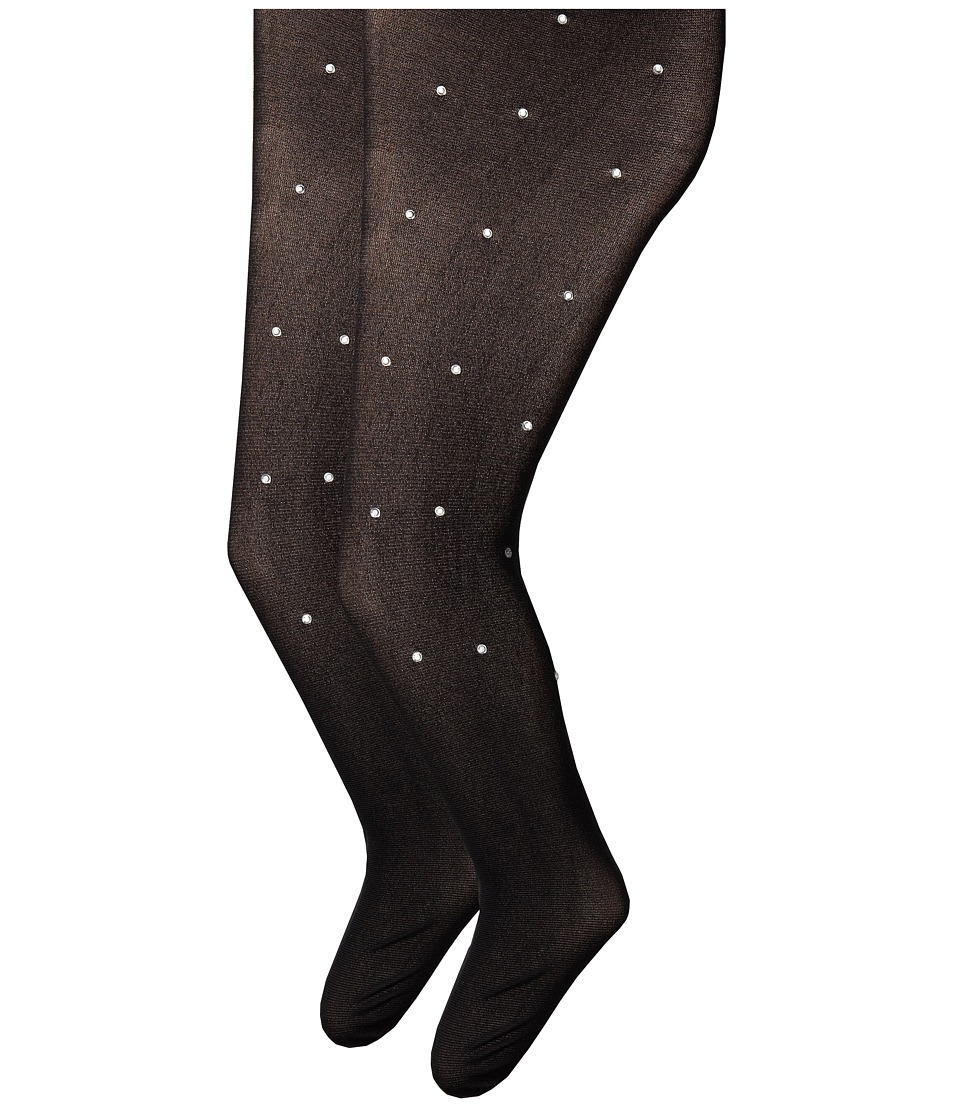 Jefferies Socks - Dress Up Diamond Tights 2 Pack (Toddler/Little Kid/Big Kid) (Black Diamonds) Hose
