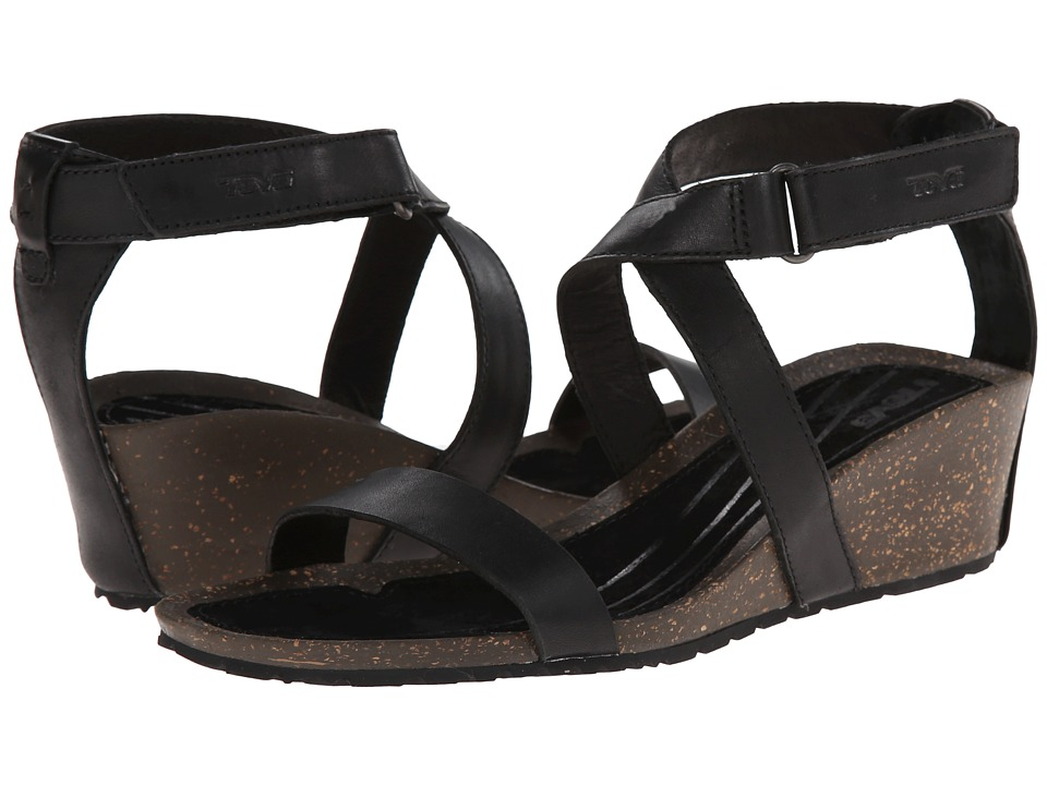 Teva Cabrillo Strap Wedge 2 Black Womens Sandals