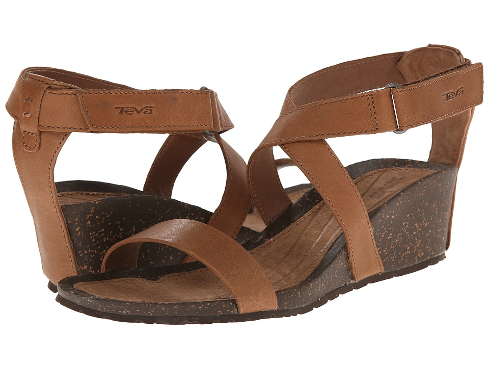 Teva Cabrillo Strap Wedge 2 Tan Womens Sandals