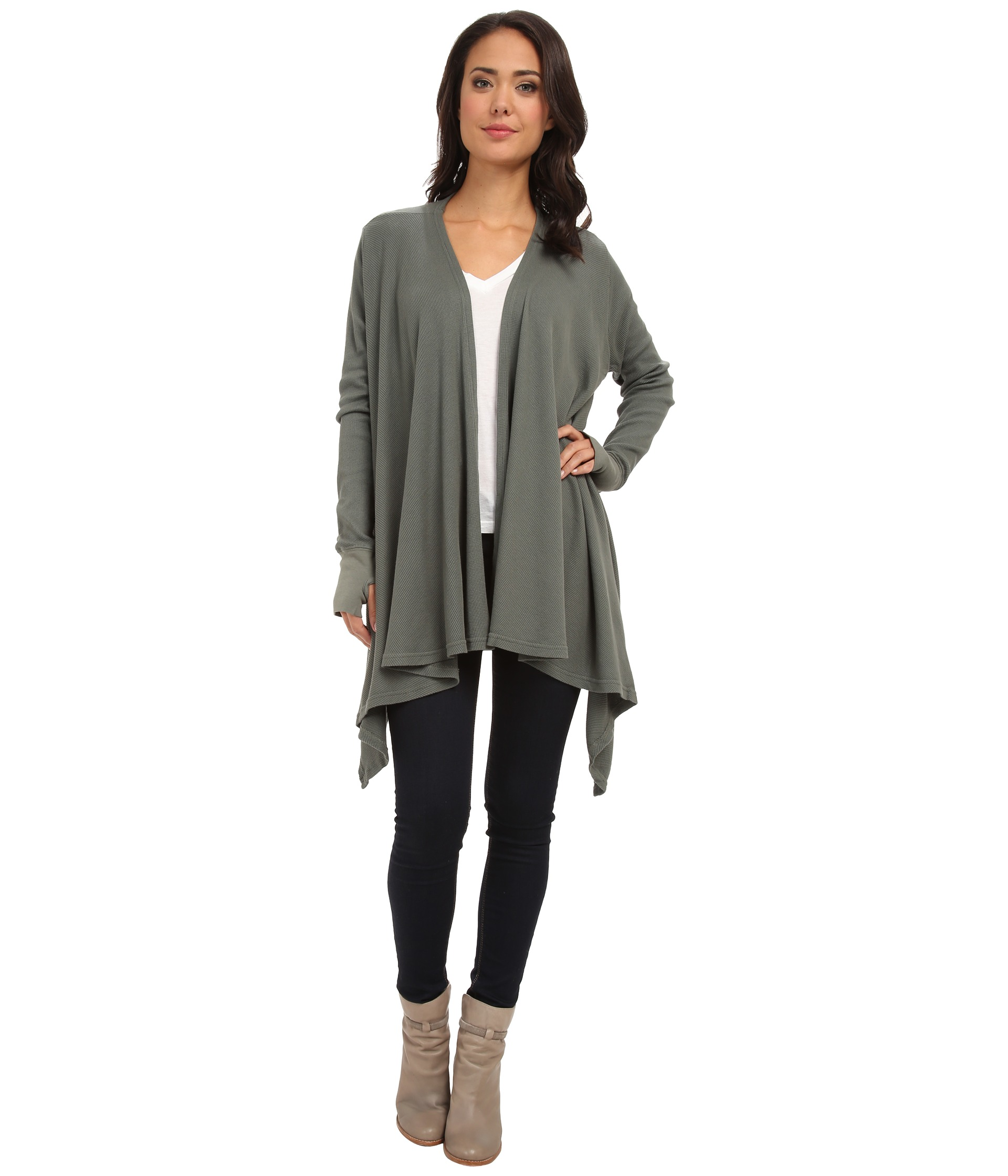 Shop Free People Hangout Long Thumb-Hole Cardigan online at learn-islam.gq Layer on the cool in this ultra-fashionable cardigan from Free People, styled all the way down to the ankles. Side vents, an open front and thumb-hole sleeves finish off the look.