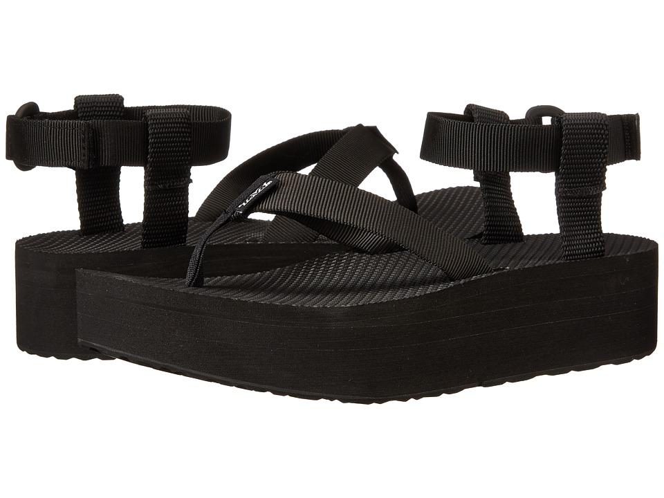 Teva Flatform Sandal Black Womens Sandals