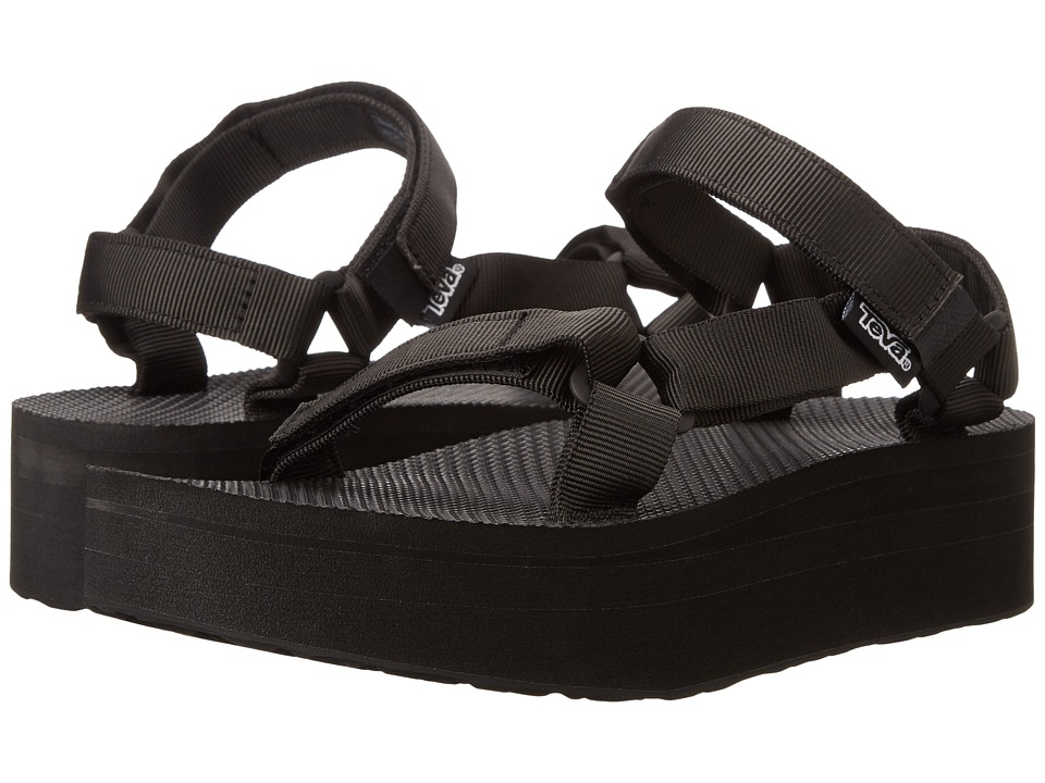 Teva Flatform Universal Black Womens Sandals