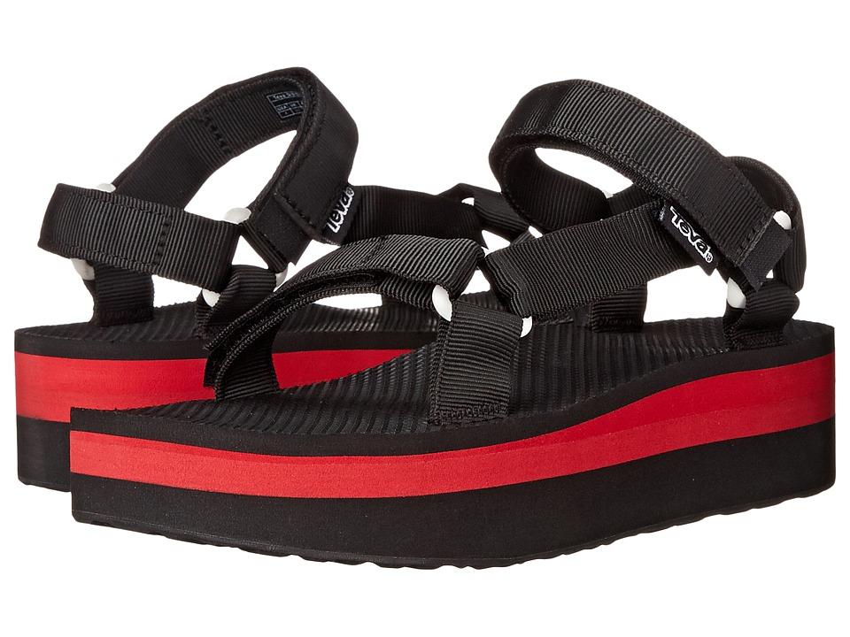 Teva Flatform Universal Black/Red Womens Sandals