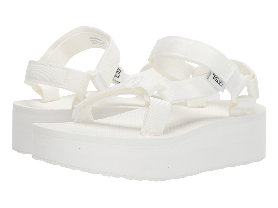 Teva Flatform Universal Bright White Womens Sandals