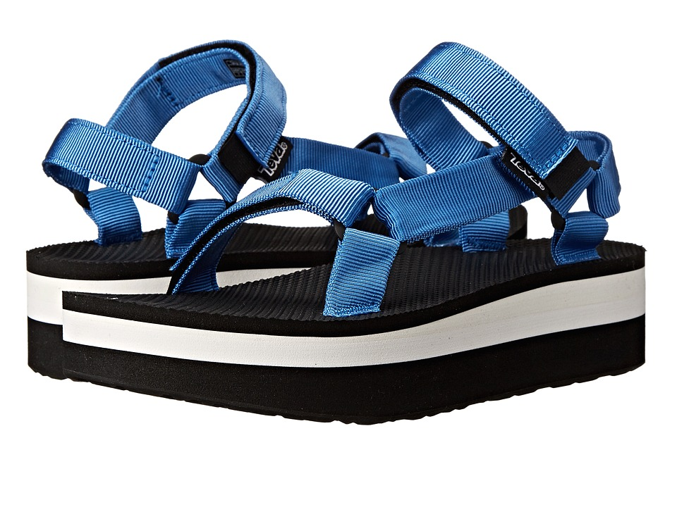 Teva Flatform Universal French Blue Womens Sandals
