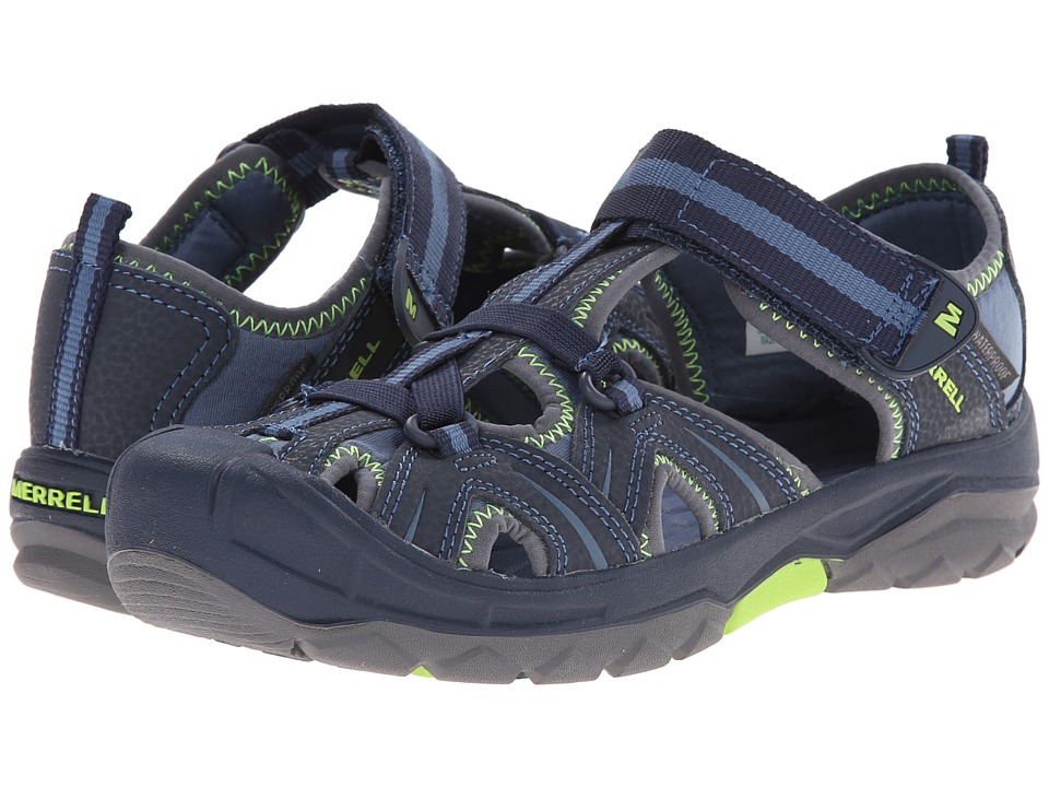 Merrell Kids Hydro (Big Kid) (Navy/Green) Boys Shoes