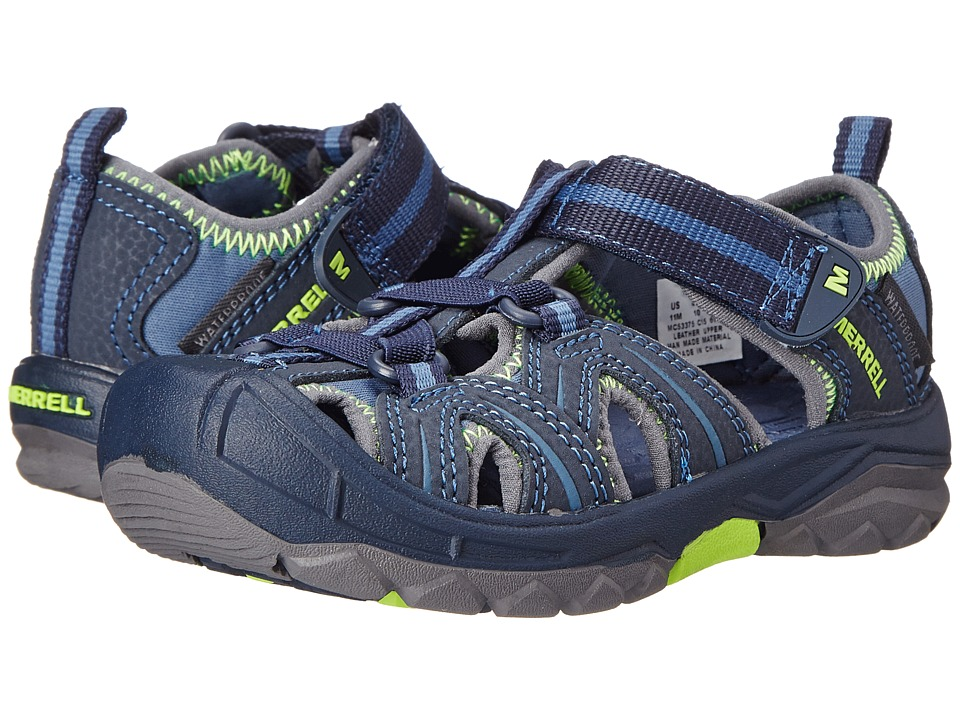 Merrell Kids - Hydro (Toddler/Little Kid) (Navy/Green) Boys Shoes