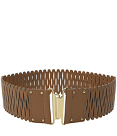 Vince Camuto - 63mm Perforated Stretch Panel w/ Gold Interlock