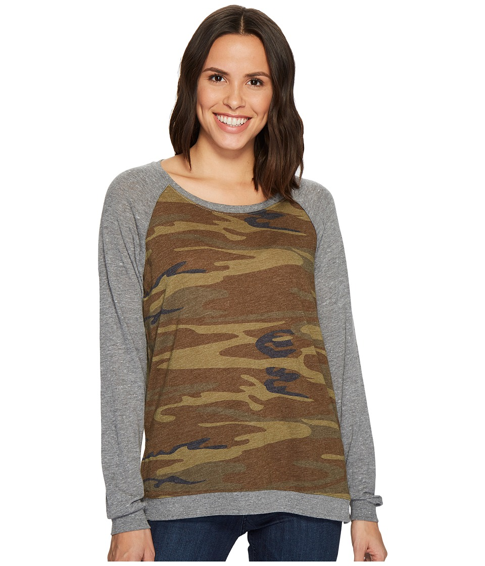 Alternative - Printed Locker Room Pullover (Camo) Womens Long Sleeve Pullover