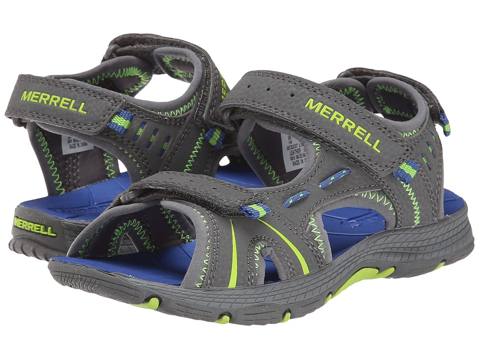 Merrell Kids Panther Toddler/Little Kid Grey/Blue Boys Shoes