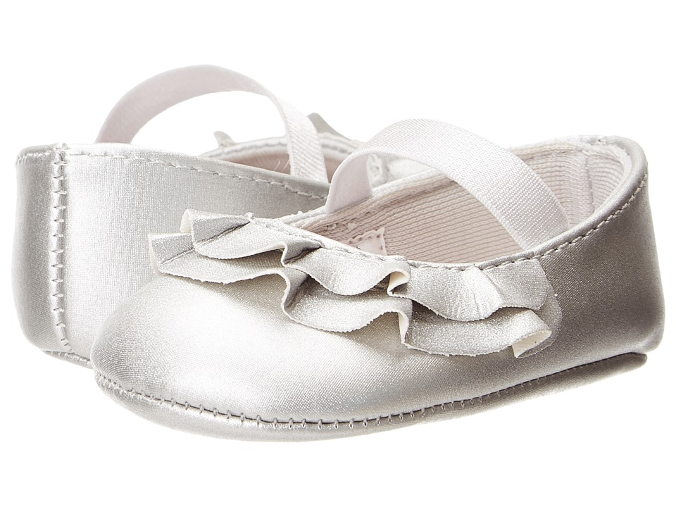 Baby Deer Ruffle Skimmer Mary Jane (Infant) (Silver) Girls Shoes