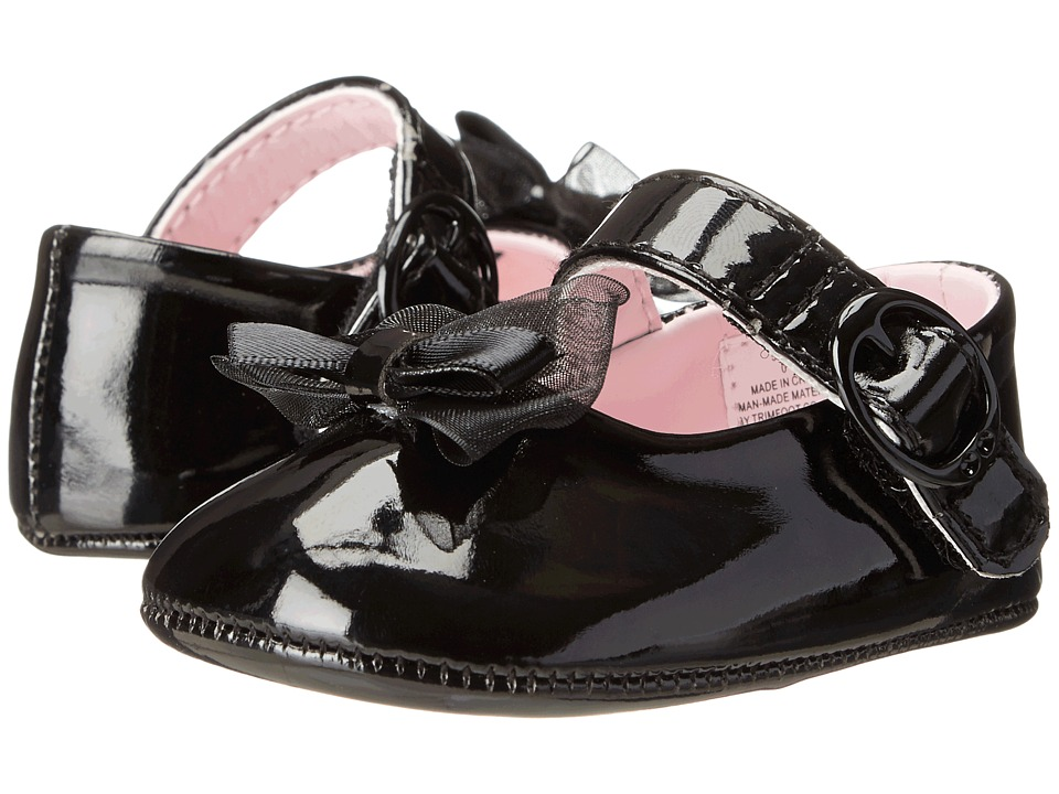 Baby Deer Skimmer Mary Jane (Infant) (Black Patent) Girls Shoes