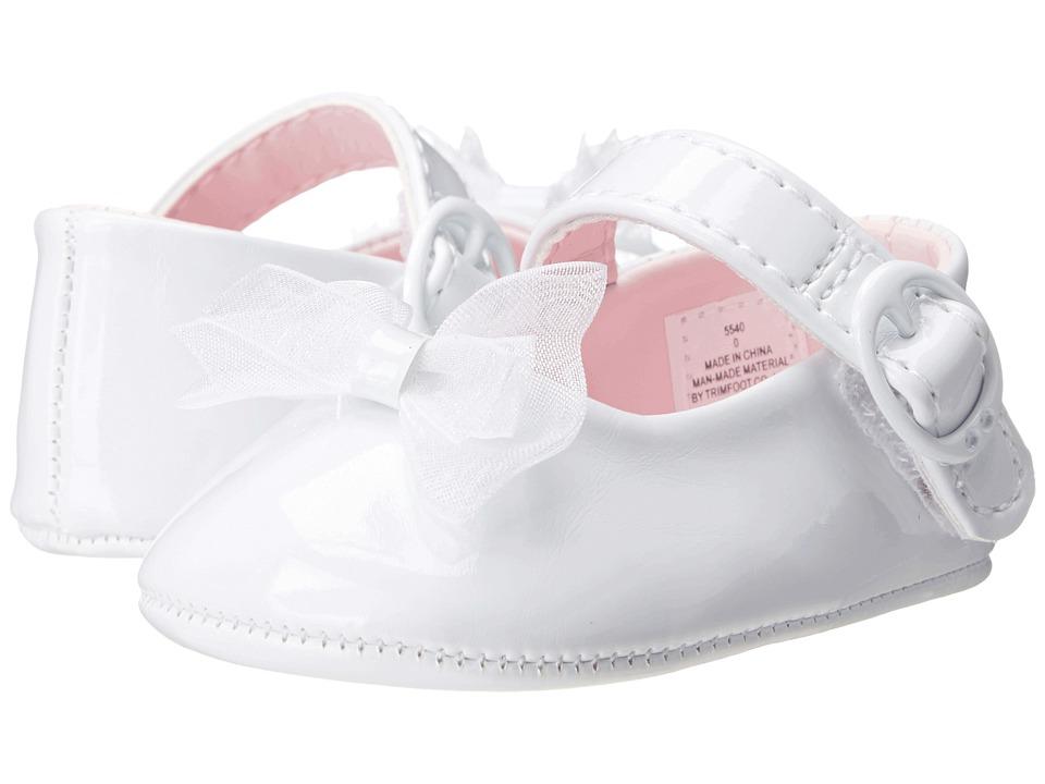 Vintage Style Children's Clothing: Girls, Boys, Baby, Toddler Baby Deer - Skimmer Mary Jane Infant White Patent Girls Shoes $22.00 AT vintagedancer.com