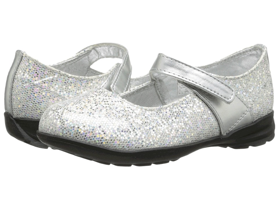 Baby Deer Glitter Mary Jane Infant/Toddler Silver Girls Shoes