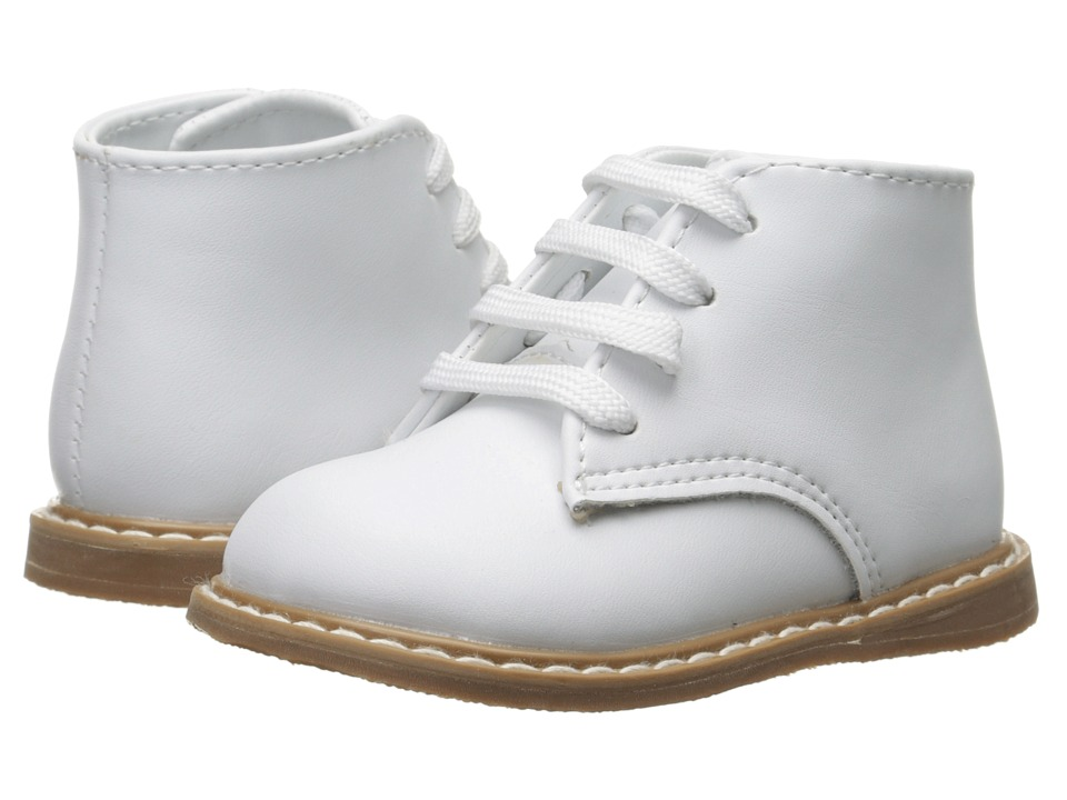 Baby Deer Leather Hi-Top (Infant/Toddler) (White) Kids Shoes
