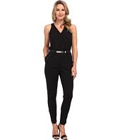 DKNYC - Sleeveless Cross Front Jumpsuit