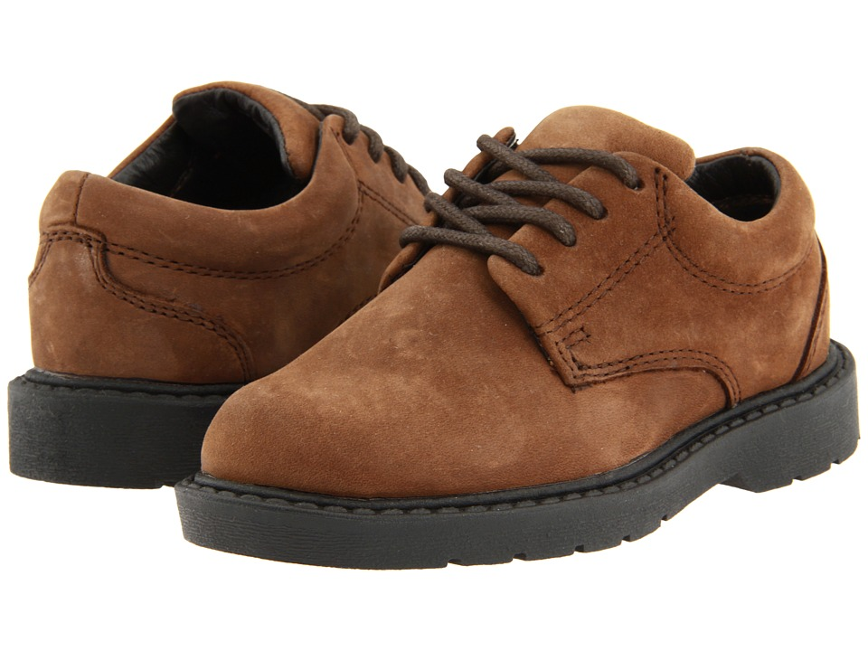School Issue Scholar Toddler Brown Oily Nubuck Boys Shoes