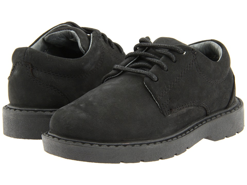 School Issue Scholar Toddler Black Oily Nubuck Boys Shoes