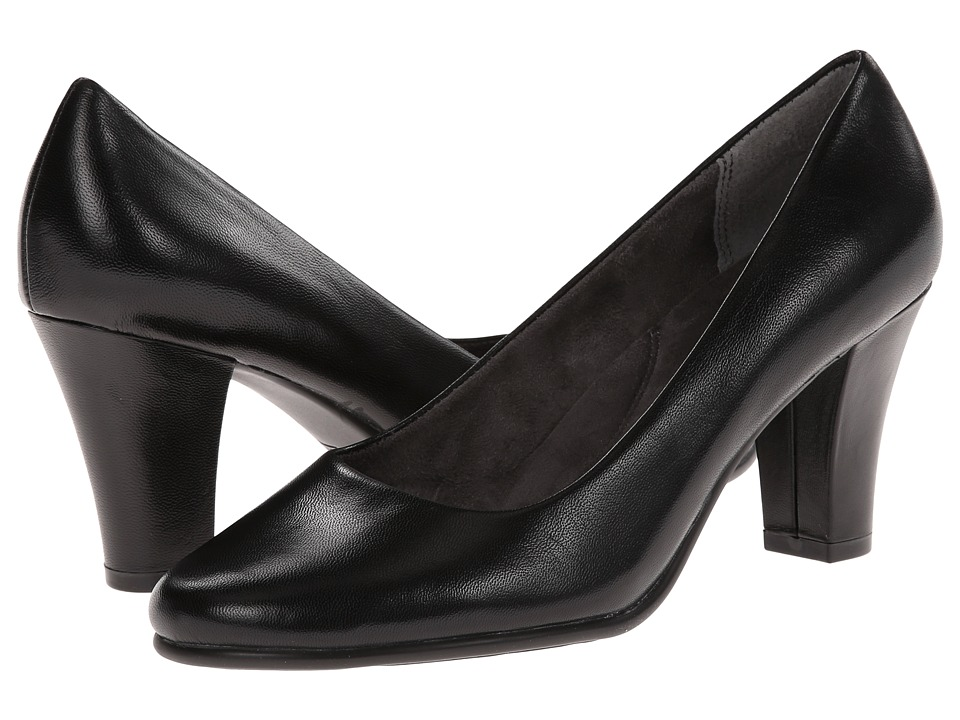 Aerosoles - Dolled Up Black Leather Womens Shoes $79.00 AT vintagedancer.com