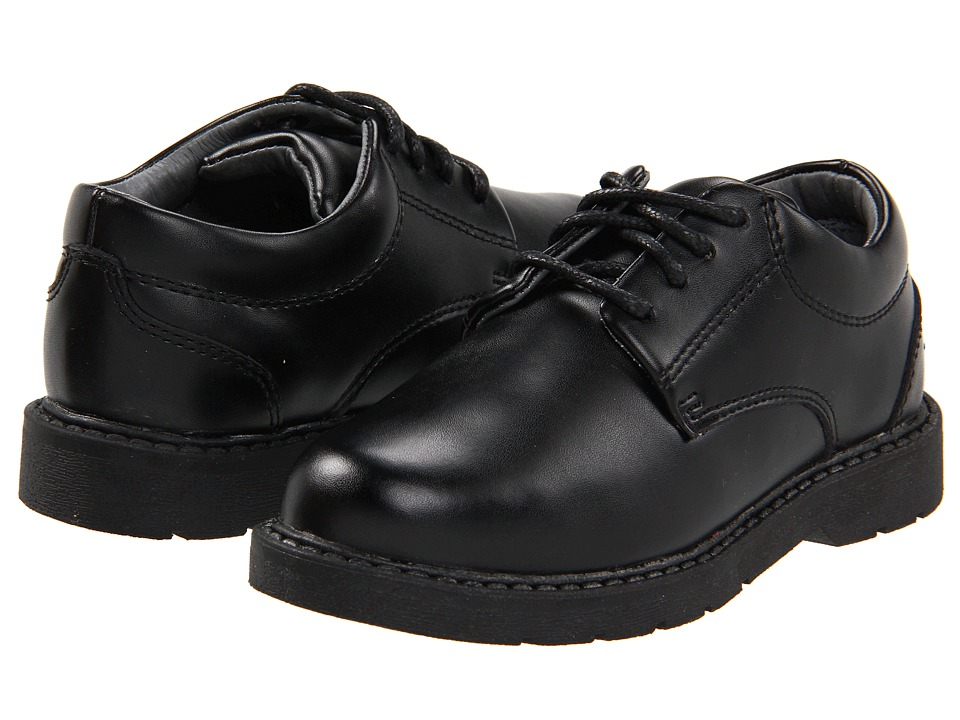 School Issue Scholar Toddler/Little Kid/Big Kid Black Leather Boys Shoes