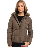 U.S. POLO ASSN. - Hooded Puffer Jacket w/ Elastic Waist Tabs