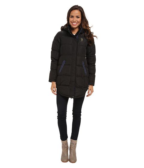 U.S. POLO ASSN. Long Hooded Puffer Coat