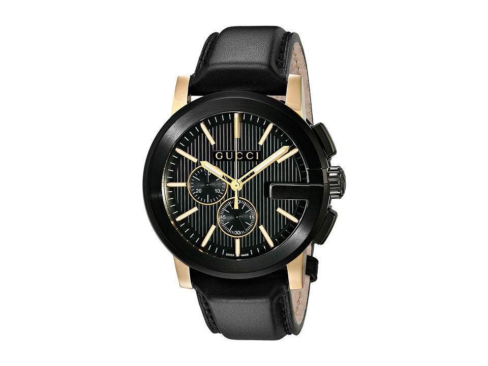 Gucci The G Chrono XL Chronograph YA101203 Black/Light Yellow Watches
