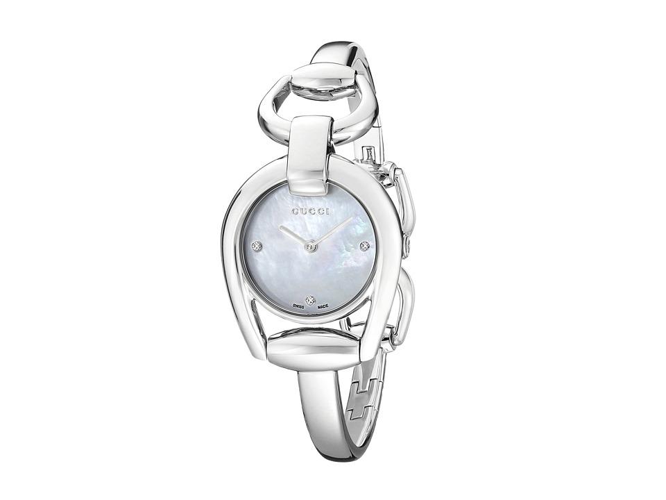 Gucci Horsebit SM Bangle YA139506 White/Steel Watches