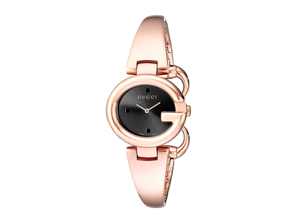 Gucci Guccissima SM Bangle YA134509 Black Watches