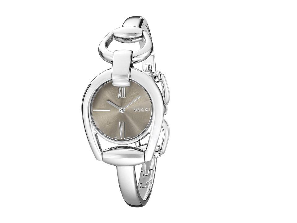Gucci Horsebit SM Bangle YA139501 Brown/Steel Watches