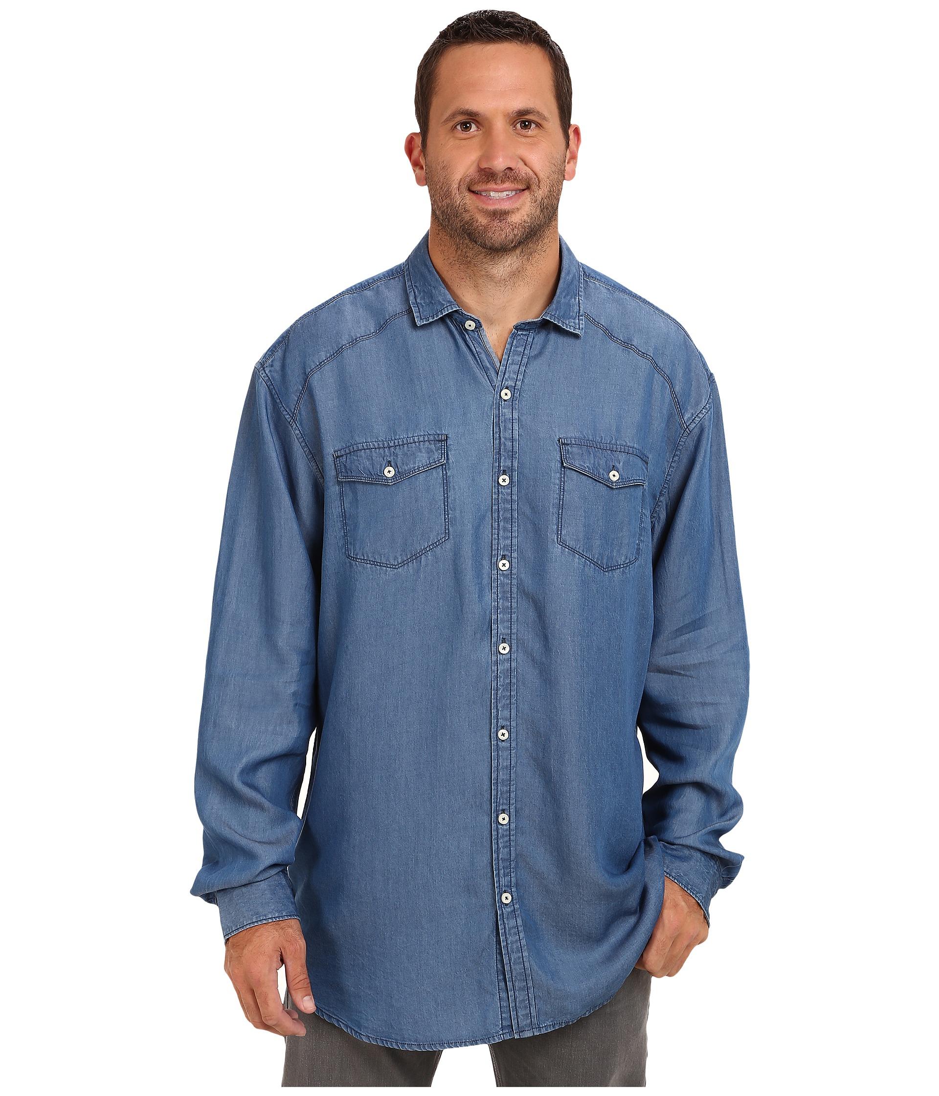 Tommy bahama big tall big tall empire indigo long for Tommy bahama long sleeve dress shirts