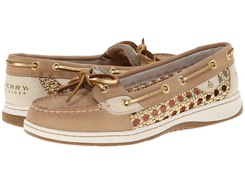Sperry Top-Sider Angelfish 2 Eye Canning Linen Gold