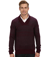 Lacoste - Cotton/Wool Patterned Shawl Collar Sweater