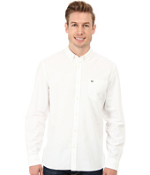 Lacoste - L/S Washed Oxford Solid Woven Shirt
