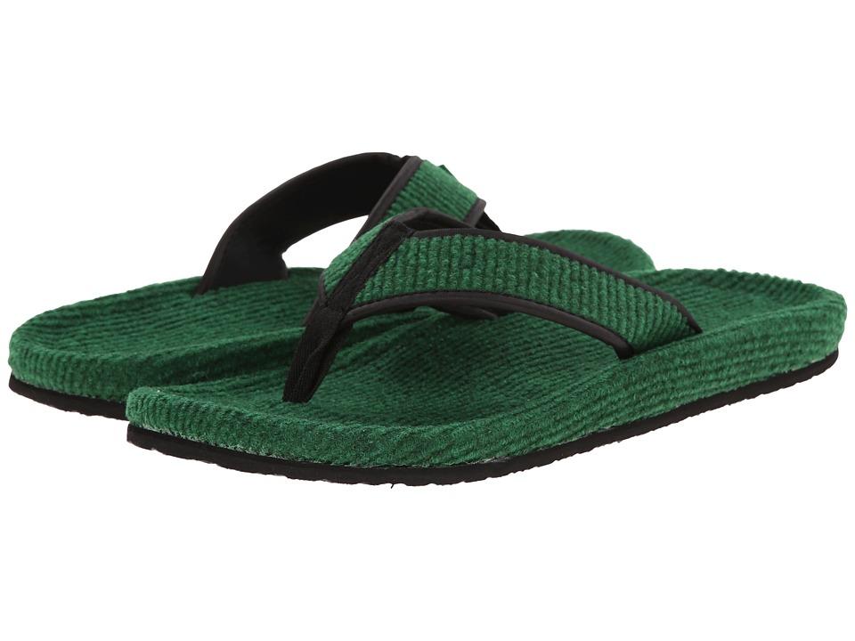 Sanuk Fur Real Classic Green Mens Sandals