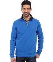 Lacoste - Half Zip Lightweight Sweatshirt w/ Logo At Neck
