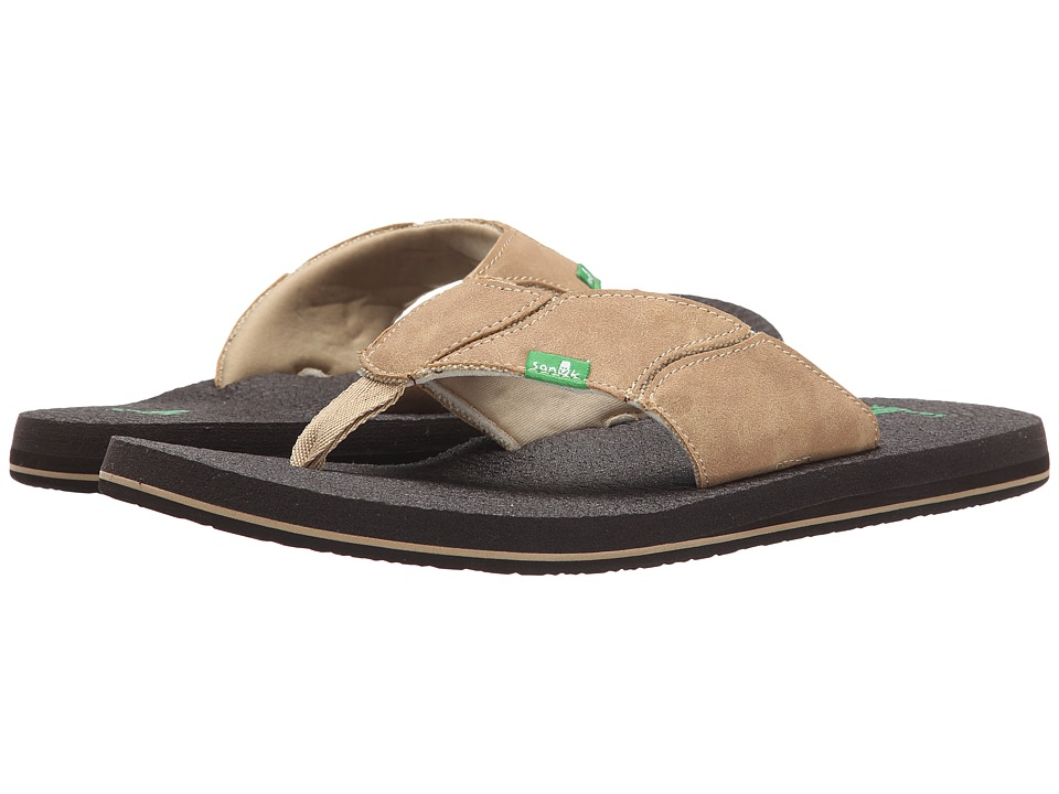 Sanuk Fault Line Tan/Brown Mens Sandals