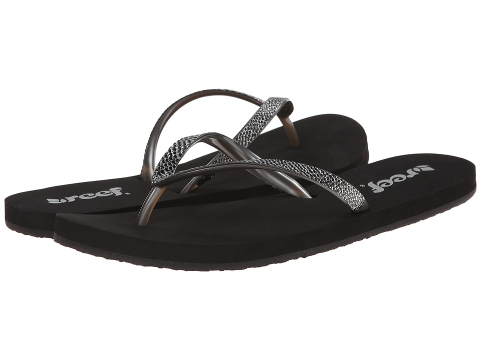 Reef - Stargazer Sassy (Black/Silver) Women's Sandals