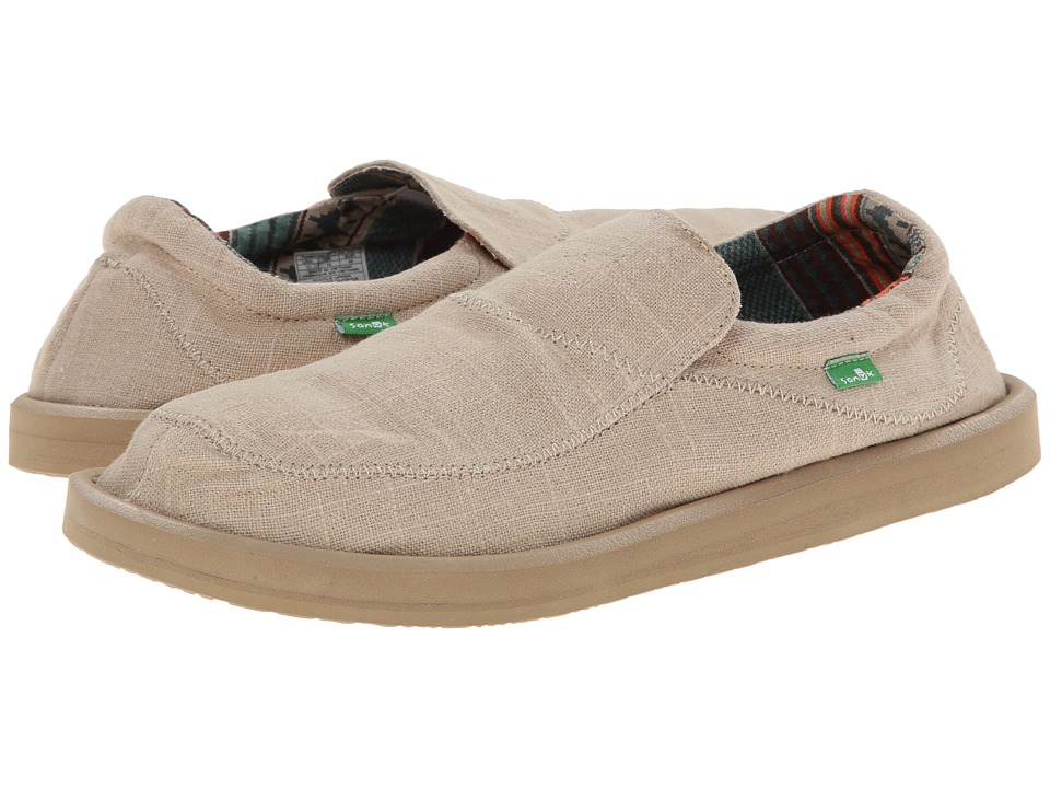Sanuk - Chiba Stitched (Natural) Men