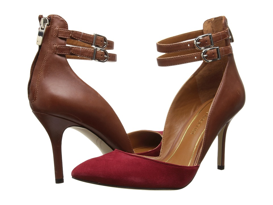 Enzo Angiolini Celton (Red/Brown Suede) Women's Shoes