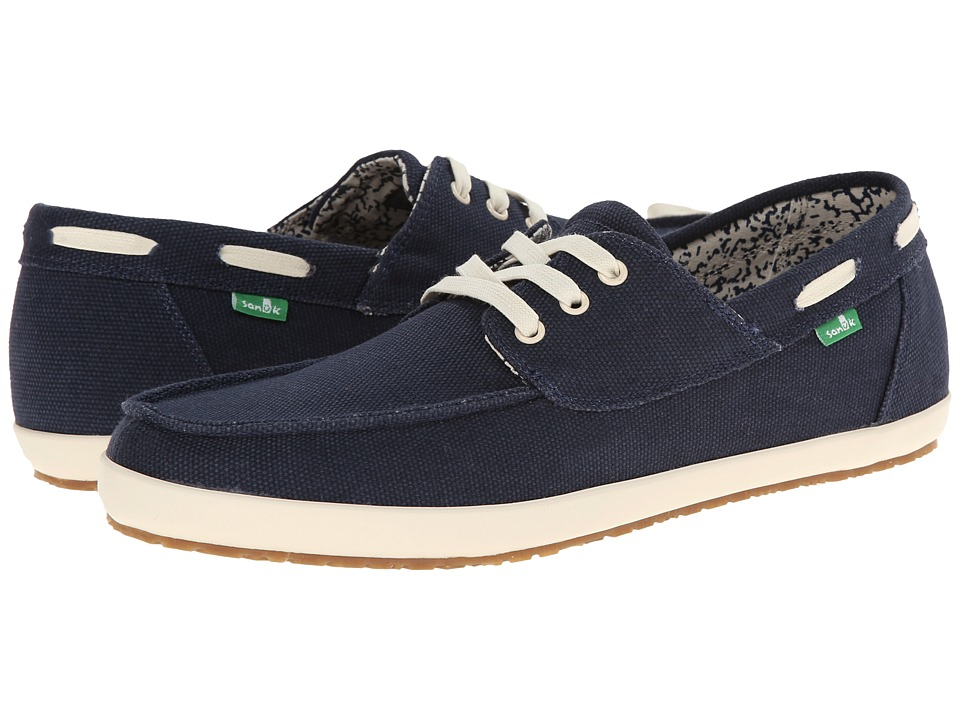 Sanuk Casa Barco Navy Mens Lace up casual Shoes