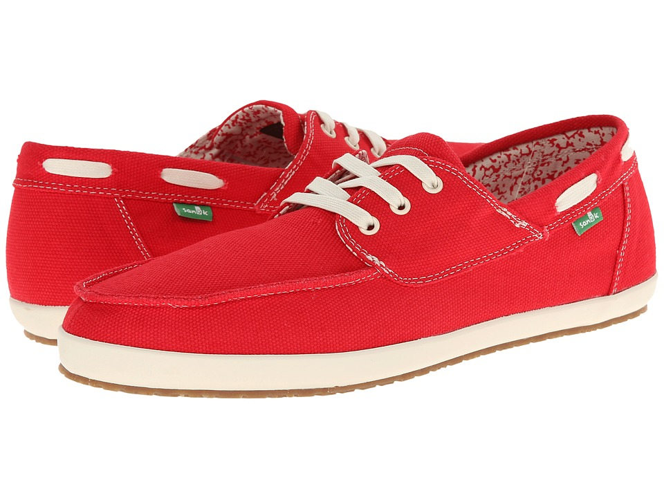 Sanuk Casa Barco Red Mens Lace up casual Shoes
