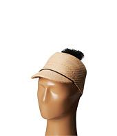 BCBGMAXAZRIA - Solid Straw Pom Cap