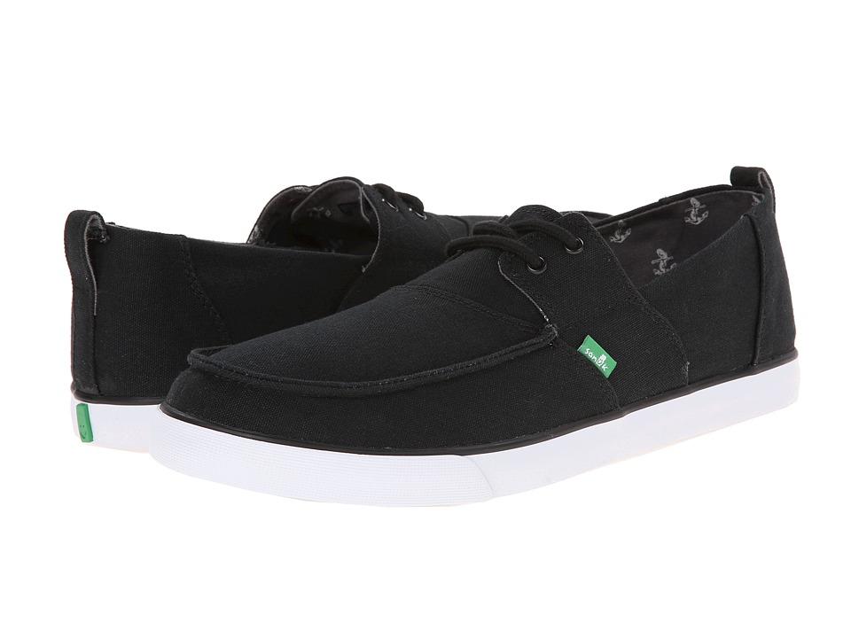 Sanuk Offshore Black Mens Slip on Shoes