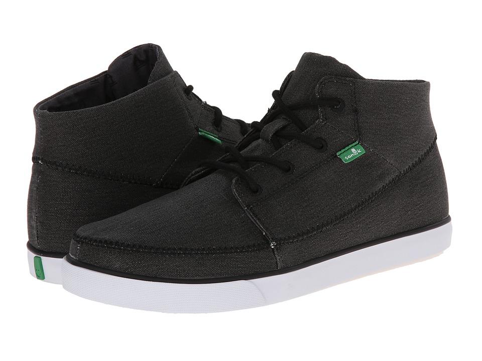 Sanuk Highrise Black Mens Lace up casual Shoes