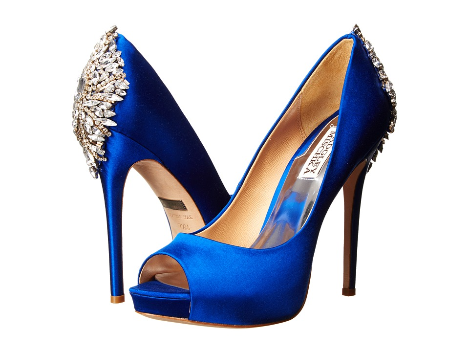 Badgley Mischka - Kiara (Sapphire Satin) High Heels