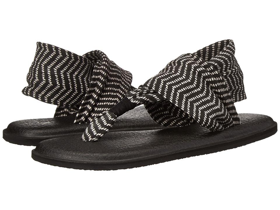 Sanuk Yoga Sling 2 Prints (Black/Natural Congo) Sandals