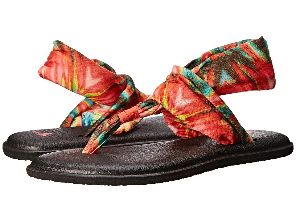 Sanuk Yoga Sling 2 Prints Watermelon/Multi Womens Sandals