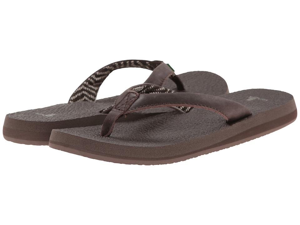 Sanuk - Yoga Mat Primo (Chocolate) Women's Sandals